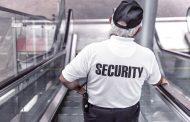 En vakt som håller ordning